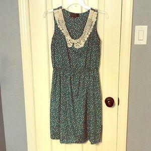 Green Polkadot Dress